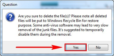 Delete the files on your computer with your uninstaller