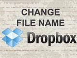 How to rename files, rename folders on Dropbox