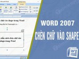 Guide to insert text into shape in Word, draw shapes in word