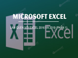 Getting to know Excel 2016 and 2019 (Part 1)