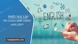 Review exercises for homework in English class 5