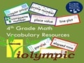 English vocabulary for 4th grade Math in Violympic International Math