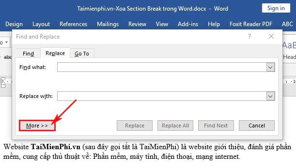 How to delete section break in word 3