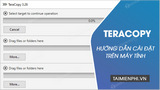 Install TeraCopy, a software that speeds up data backup on your computer