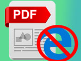 Turn off the feature to open PDF files on the Windows 10 Edge browser