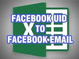 How to convert Facebook UID to Facebook Email with Excel