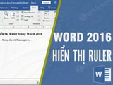 How to display Rulers in Word 2016