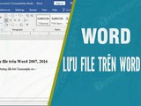 How to save files in Word 2007, Word 2016