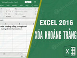 How to delete spaces in Excel