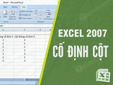 How to freeze columns in Excel 2007