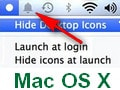 Sort and hide icons on Mennu of Mac
