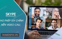 Skype supports custom wallpapers for video calls like Zoom