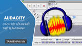 How to fix Audacity error when opening audio device