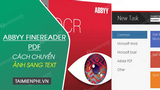 How to convert images to text using ABBYY FineReader PDF