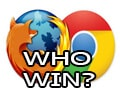 Compare Google Chrome and Firefox, which web browser is lighter and faster?