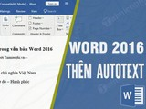 How to add autotext in Word 2016 documents