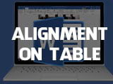 How to center table cells in Word