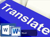 How to show translation just below Word documents