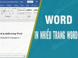 How to print multiple Word pages