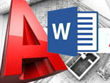 How to convert CAD files to Word