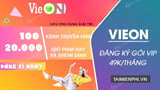How to buy VIP VieON package only 49k / month