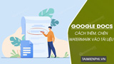 How to add, insert Watermark into a document in Google Docs