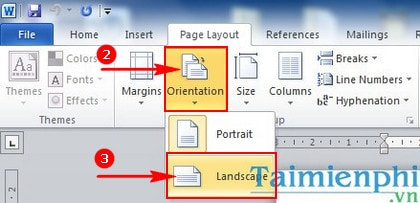 Huong dan rotated the page of the paper in word 2010