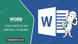 How to open Word files on your computer when Word is not installed