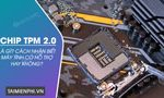 What is TPM 2.0 chip?  How to know if the computer supports it or not?